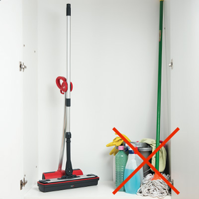 Moppy cordless mop to clean with steam - cleaning evolution