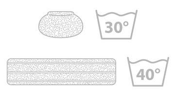 Kit 2 cloths+ 3 sockettes Vaporetto