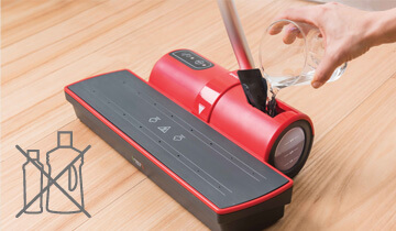 Moppy Red the final solution for steam cleaning and cordless mop - with Moppy cleaning the floors will not be the same thing