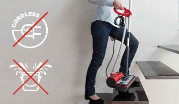 Moppy Red the final solution for steam cleaning and cordless mop - light and handy