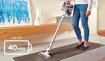 Forzaspira SLIM SR90G - portable vacuum cleaner, autonomy