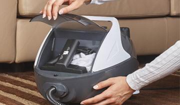 Vaporetto Pro 70 accessories compartment