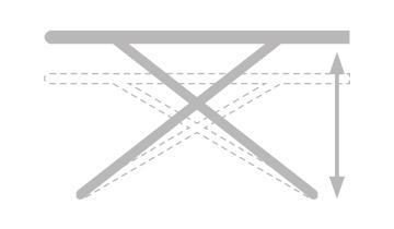 Asse da stiro Vaporella - Regolazione altezza