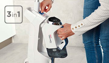 Polti Vaporetto 3 Clean_Blue: cyclonic vacuum cleaner, steam mop and portable steam cleaner