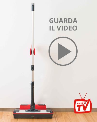 Moppy soluzione per la pulizia con vapore e spazzolone senza filo - immediato, pratico, veloce