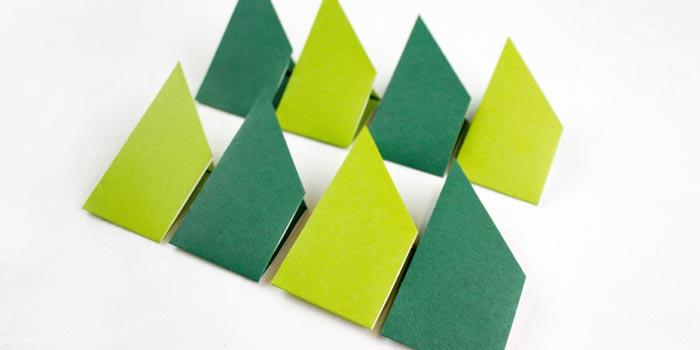 ghirlanda origami con ferro da stiro - step5