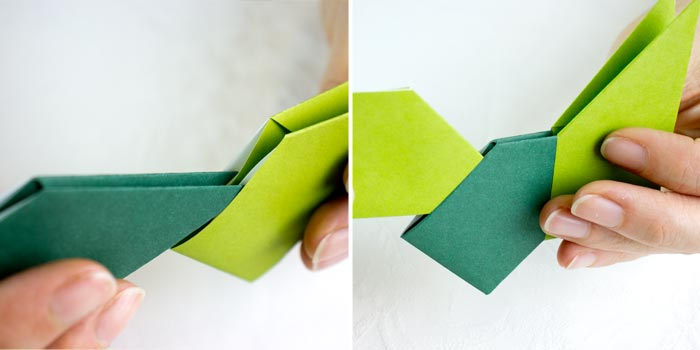 ghirlanda origami con ferro da stiro - step6