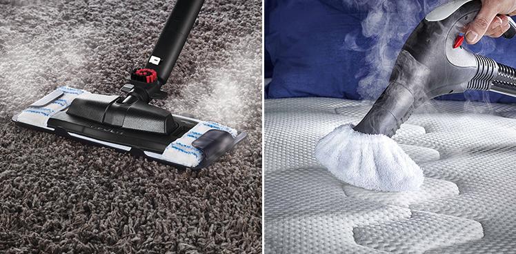 elimina los ácaros y los alérgenos de las alfombras y colchones. Eficacia probada de Polti Vaporetto y Polti Unico